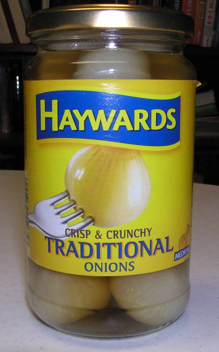 Jar of pickled onions imported from England