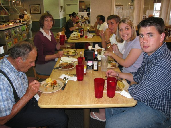 Daniel and family at Golden Corral