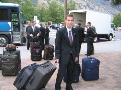 Photo of Paul leaving the Missionary Training Center