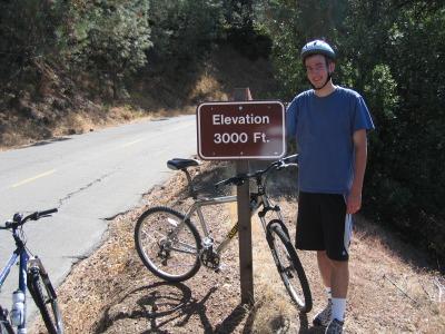 Photo of Paul by the 3,000 foot sign on Mount Diablo.