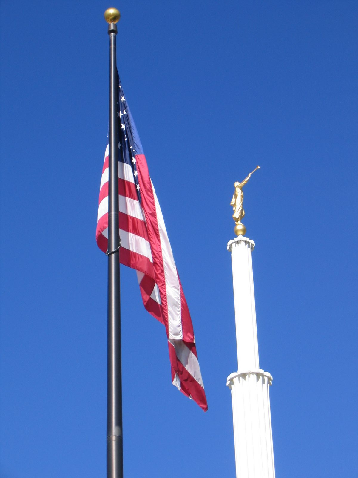 Flag at the Provo Temple