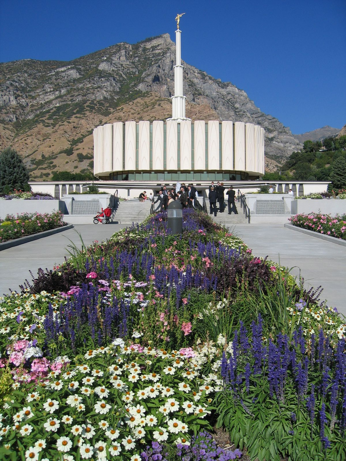 Flowers at the Provo Temple