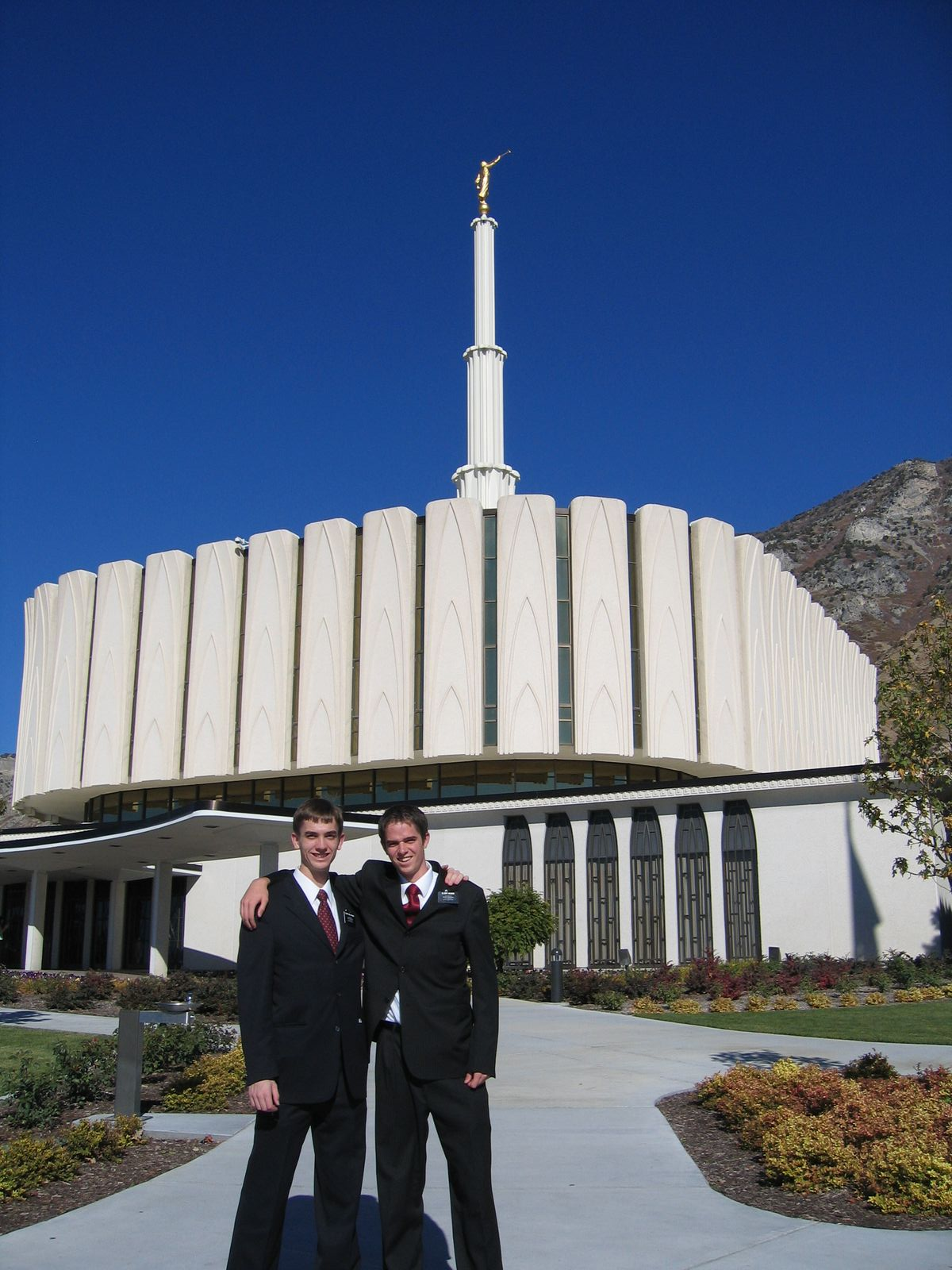 Elders with a mission at the Provo Temple