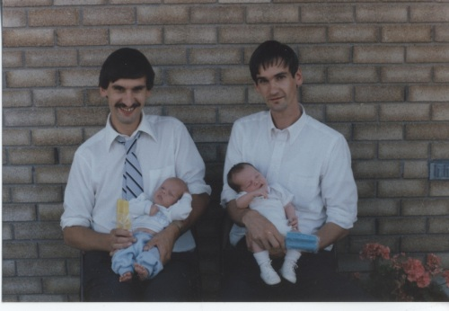 Ray with son David (left) and Rick with son Jacob