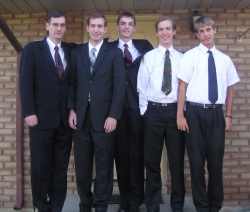 My sons and I ready for Stake Priesthood Meeting 2006