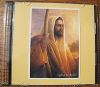 Front cover of Sarah's CD case showing a picture of Christ holding a staff