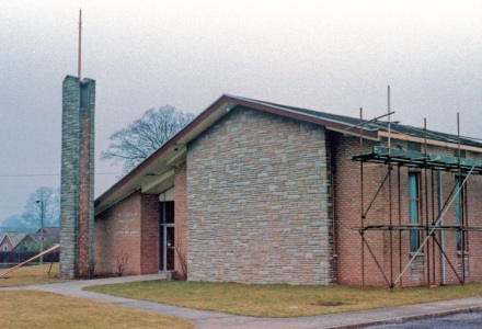 Macclesfield Chapel undergoing renovation in 1984