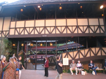 East gate of the Adams Shakespearean Theatre
