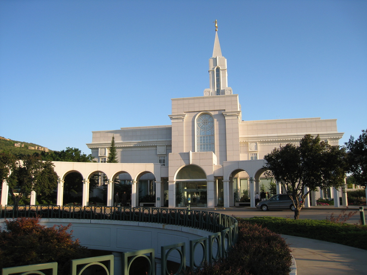 The Bountiful Temple showing the entrance at the north