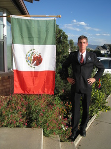 Jake by the Mexican Flag