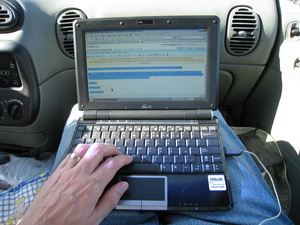 Working with Google Docs on my Eee PC