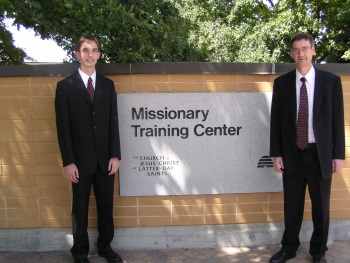 Jake and his Dad at the MTC August 2006