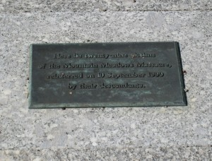 Carleton grave plaque marking the burial vault