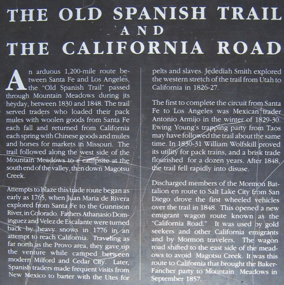The Old Spanish Trail and the California Road