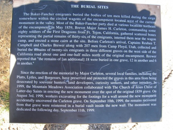 Information about the burial sites.
