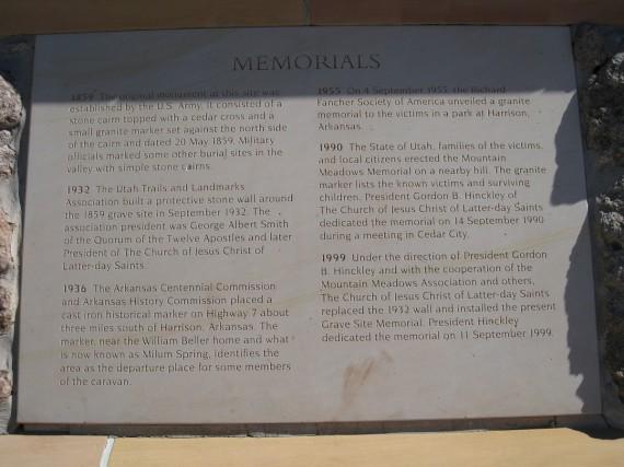 Grave Site Memorials List