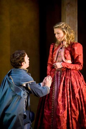 Matt Burke as Proteus and Lindsey Wochley as Julia