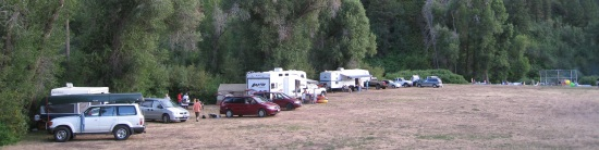 Kaysville 14th ward camped at Weber Memorial Park