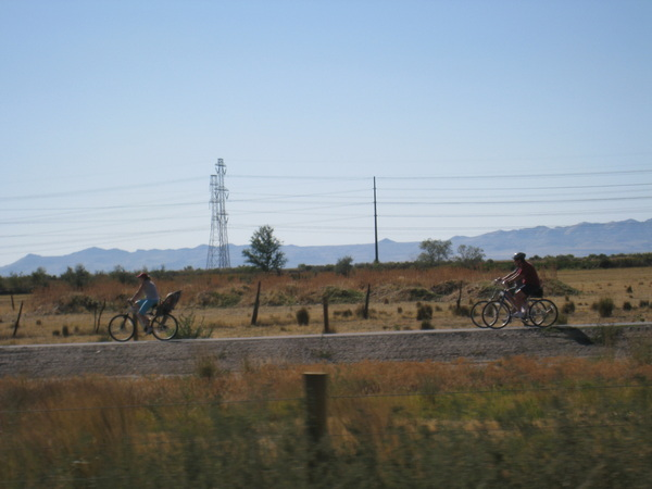 Bicyclers along the Legacy Parkway Trail.