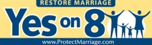 Protect Marriage bumper sticker.