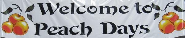 Peach Days banner.