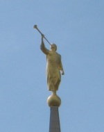 Moroni atop the Oquirrh Mountain Temple