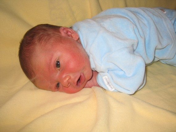 Bryson at six days old