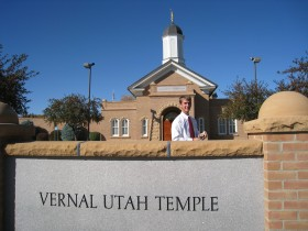 Daniel outside the Vernal Temple