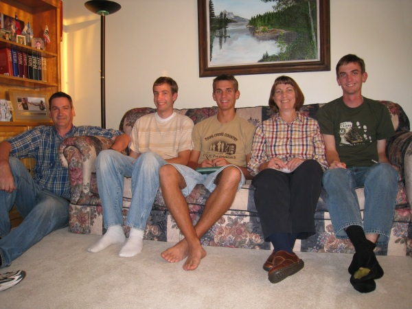 At FHE: Rick, Paul, Daniel, Jill, and Jake.