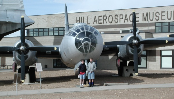 Jake and Paul at the Hill Aerospace Museum.