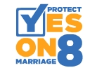 Sign supporting Proposition 8.