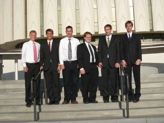 Provo Temple: Spencer, Dan, Rick, Andrew, Paul, Jake