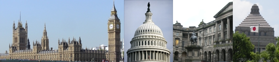 English Parliament, US Capitol, Scottish Parliament, Japanese Diet
