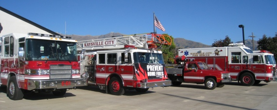 Kaysville City fire engines at the openhouse
