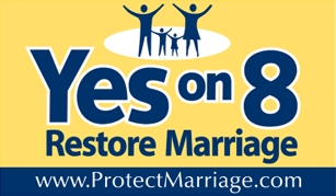 Yes on 8 yardsign.