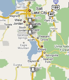 Map of Lending Club fully funded loans in Utah.