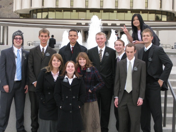 Missionaries at the Provo Temple (Daniel 2nd from left).