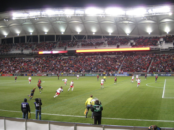 Real Salt Lake advance against the Red Bulls.