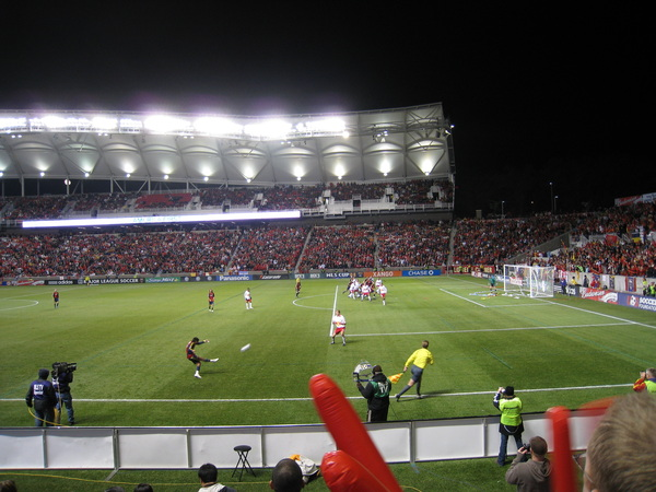 Real Salt Lake on the attack.
