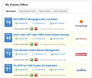Karma Offers.