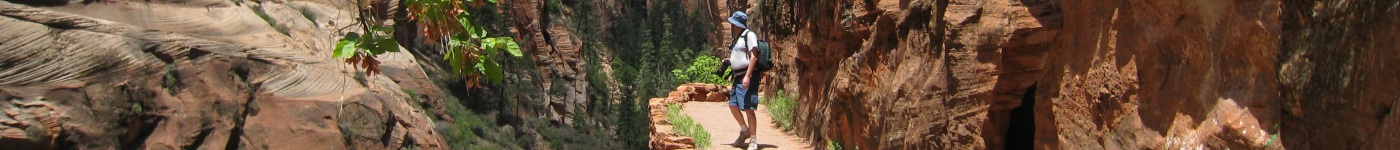 Mike on the trail to Angels Landing