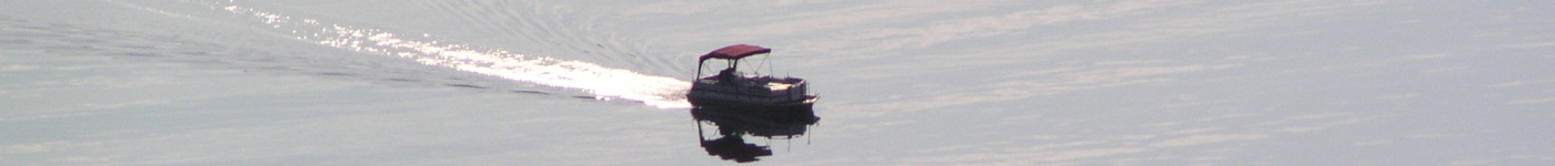 A boat on a California lake