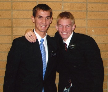 Daniel and Spencer at the MTC.