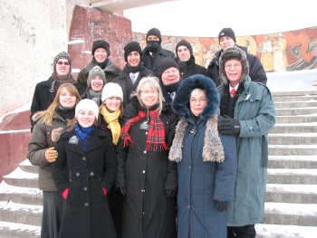 Missionaries in Mongolia on Zaisan Hill