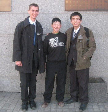 Daniel (left) with companion (right) and Mongon Od