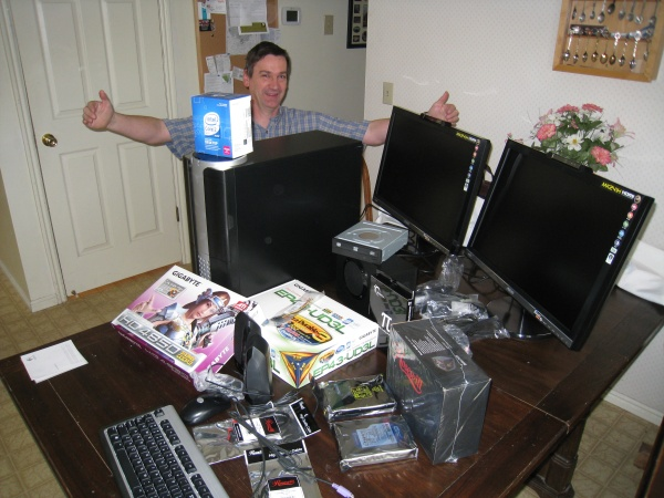 Rick with his new computer.