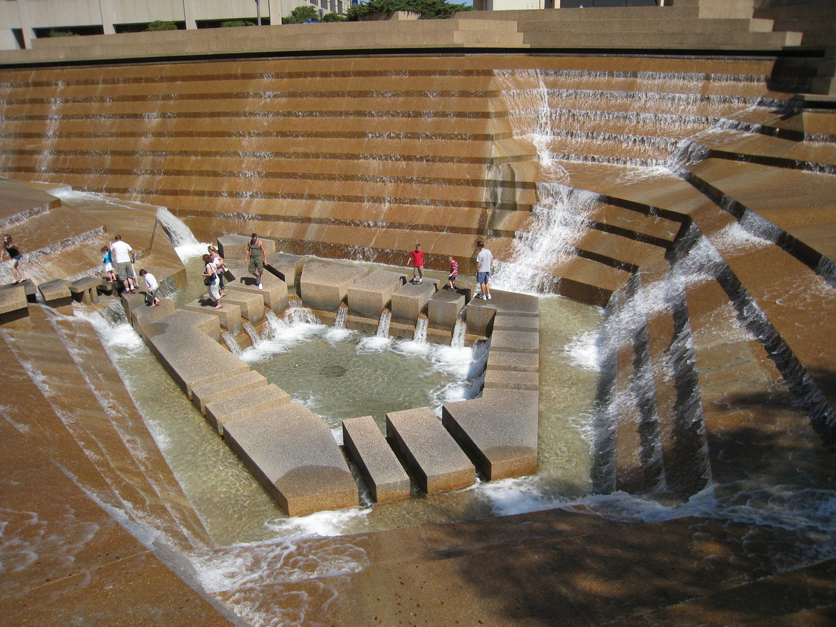 Bryson picture book of fort worth water gardens for Garden pool book