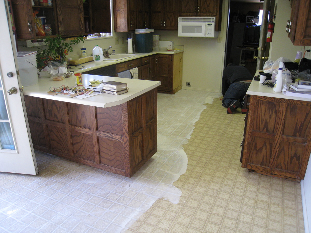 Installing a permastone modular vinyl tile floor stick to it dailygadgetfo Image collections