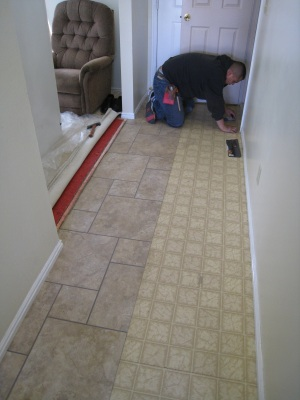Installing A Permastone Modular Vinyl Tile Floor