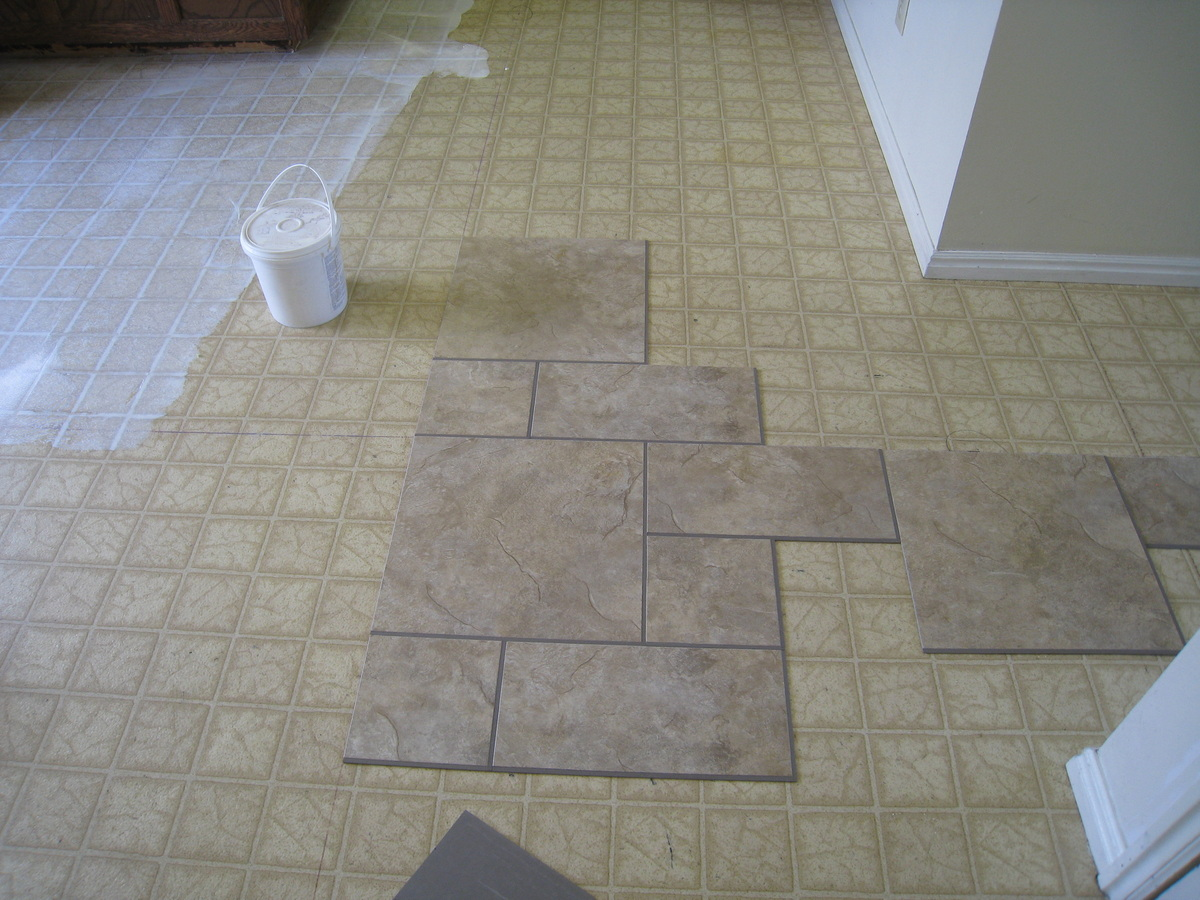 installing a permastone modular vinyl tile floor. Black Bedroom Furniture Sets. Home Design Ideas
